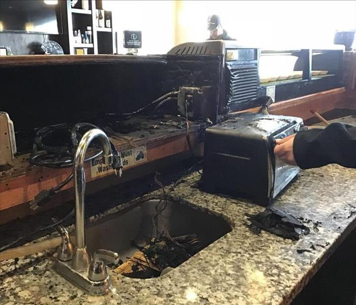 Restaurant Fire Cleanup and Restoration in Tri Cities, WA.  Before