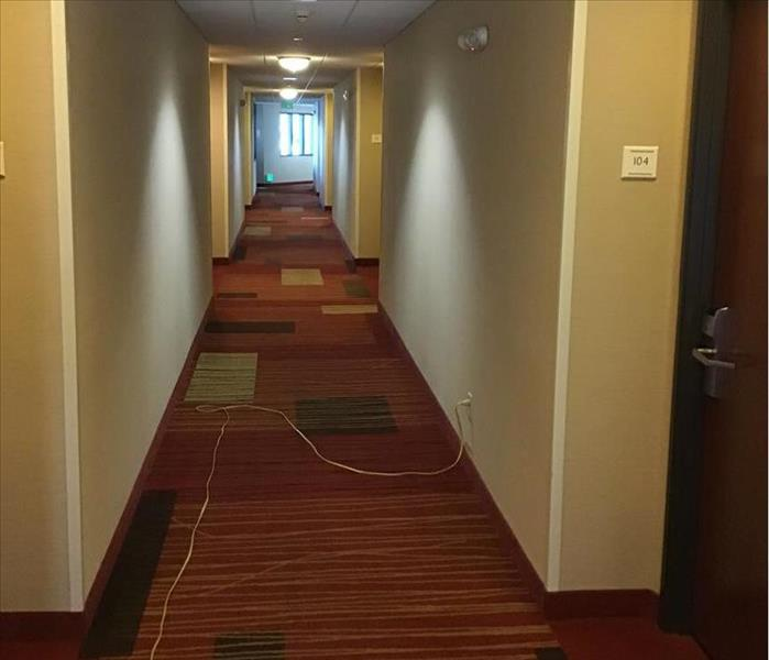 Restoration of Flooded Hotel Hallway Complete