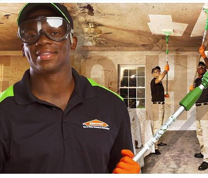 Servpro cleaning technicians at work