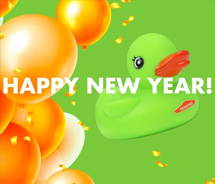 SERVPRO Rubber Duck with balloons